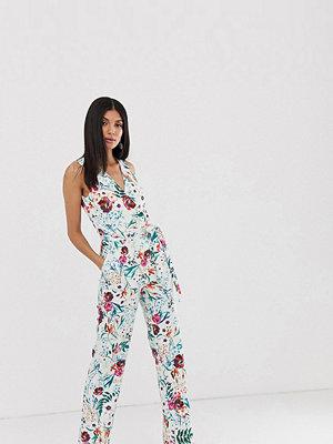 Little Mistress Tall Blommig jumpsuit i omlottmodell