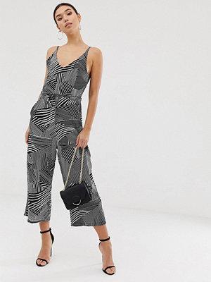 Ax Paris Mönstrad jumpsuit i culottemodell