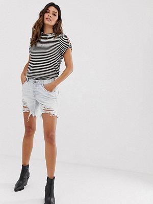 One Teaspoon Stevies Shorts i longline-modell med slitningar Brando