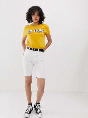 Pull&Bear Vita leggingsshorts i denim