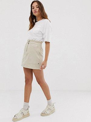 Pull&Bear Pacific Beige kjol med elastisk midja