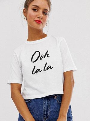 ASOS DESIGN Kort t-shirt med texttryck
