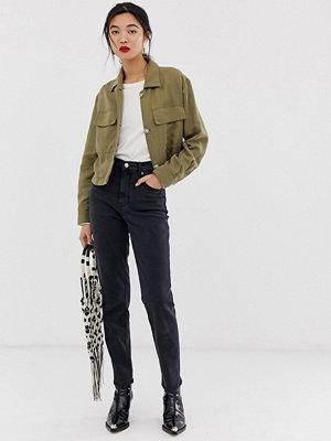 Jeans - Mango Mom jeans i tvättad svart
