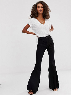 Jeans - Free People Ma Cherie Flared jeans med hög midja
