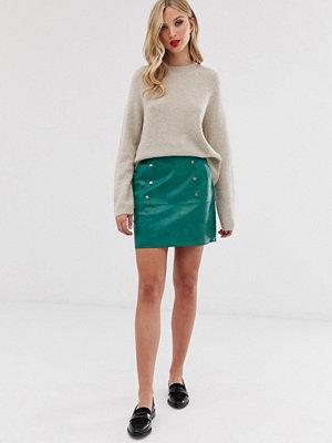 Vero Moda Minikjol i läderimitation