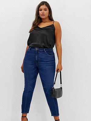 ASOS Curve Mörkt stentvättade extra höga skinny jeans Mörk stentvätt