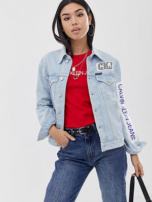 Calvin Klein Jeans Jeansjacka med lappar Bmx patch light ston