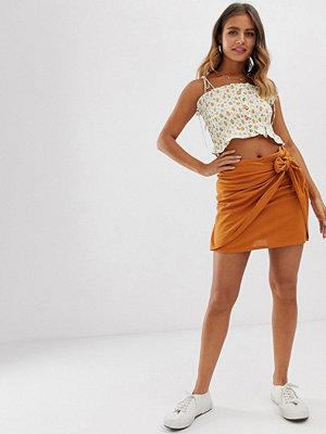 Pimkie Orange minikjol med knytning i sidan Orange