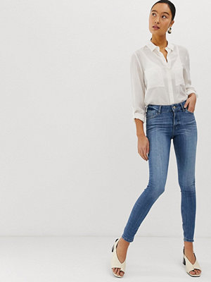 Miss Selfridge Mellanmörka skinny jeans Stenblå