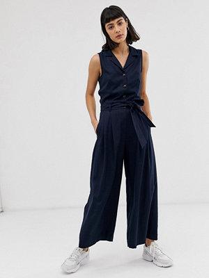 Weekday Marinblå jumpsuit