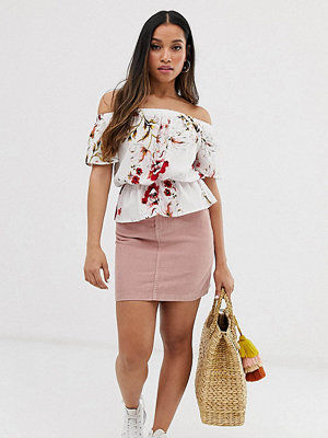 Vero Moda Petite Minikjol i manchester Dimmig ros
