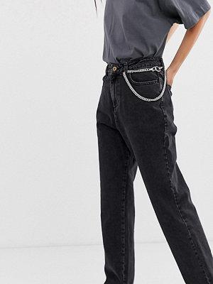 Collusion X005 Svarta jeans med raka ben