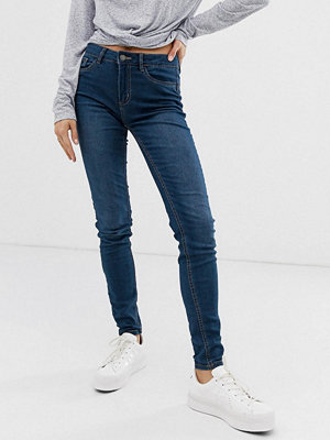 Pieces Skinny jeans Mellanblå denim