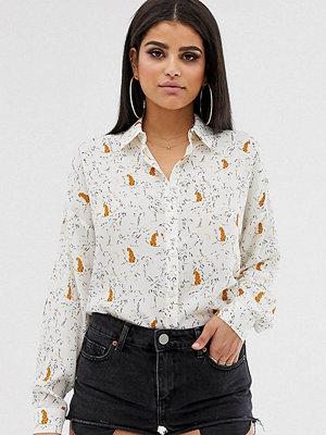 Asos Tall Mjuk skjorta med djur och palmmönster