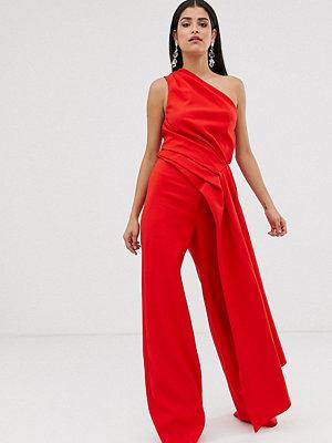 Asos Tall EDITION Tall Jumpsuit med en axel och drapering på sidan