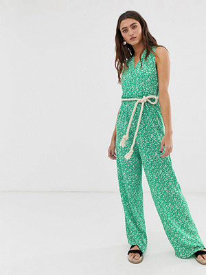 Jumpsuits & playsuits - Only Blommig jumpsuit i omlottmodell