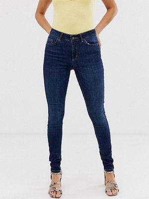 Pieces Skinny jeans Mörkblå denim