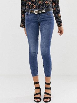 Vero Moda Blå skinny jeans Mellanblå denim