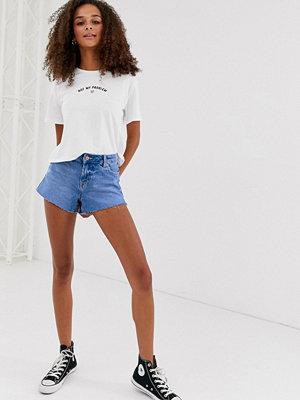 New Look Klarblå jeansshorts Ljusblå
