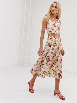 & Other Stories Blommig a-linjeformad kjol i linneblandning