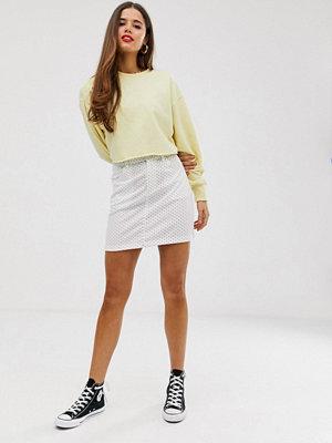 Daisy Street Prickig minikjol med hög midja