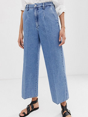 Selected Femme Ankellånga jeans med vida ben