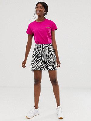 Gestuz Siwra Abstrakt zebrarandig kjol med omlott 90516 zebra aop