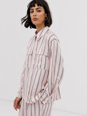 ASOS White Rosa skjorta med vertikala ränder
