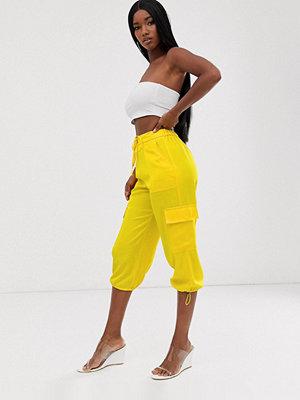 ASOS DESIGN Culotte-byxor i satin med fickdetalj