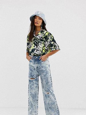 Collusion X007 Stentvättade jeans med vida ben
