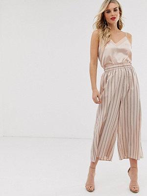 ASOS DESIGN Easy Randiga culotte-byxor med elastisk midja Rand