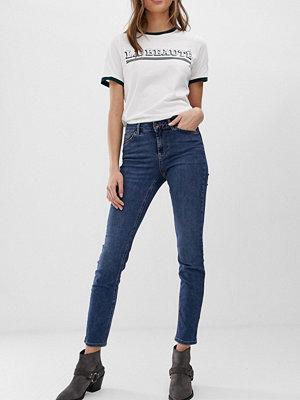 Vero Moda Jeans med raka ben Mörkblå denim