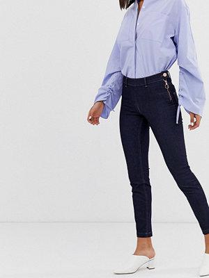 2nd Day Jeanett Indigoblå skinny jeans Rinse denim