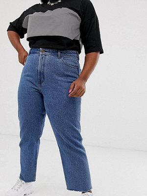 Collusion Plus x005 Mellanblå jeans med raka ben