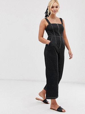 Gilli Jumpsuit med culotte-byxor med kontrasterande sömmar