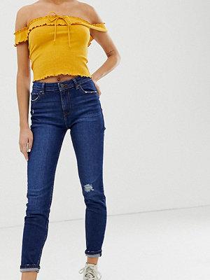 Bershka Marinblå skinny jeans