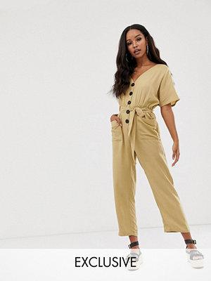 Boohoo Stenfärgad jumpsuit med culotte-byxor