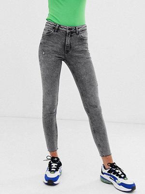 Bershka Stentvättade skinny jeans
