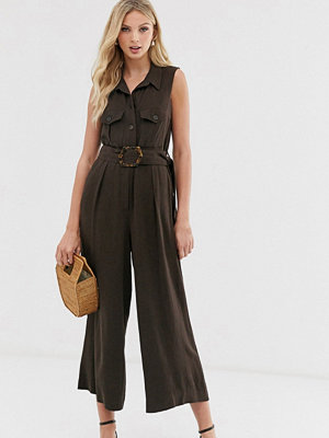 Warehouse Safari Chokladbrun jumpsuit