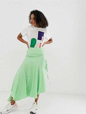ASOS White Blockfärgad rynkad kjol Grön