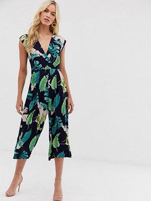 Ax Paris Blommig jumpsuit i culotte-modell