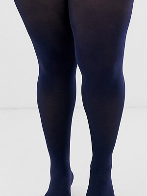 ASOS Curve Mörkblå superstretchiga strumpbyxor