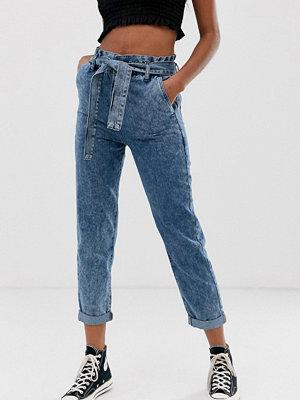 New Look Stentvättade jeans med hög