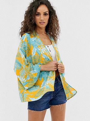 ASOS DESIGN Palmmönstrad kimono