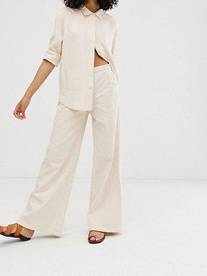 Wåven Nella Wide leg jeans Beige
