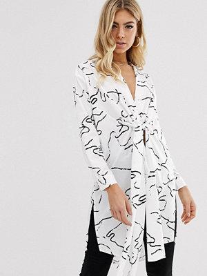Parallel Lines Skjorta med abstrakt mönster