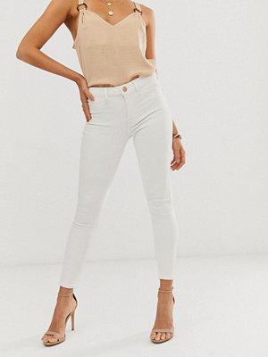 River Island Vita skinny jeans Vit denim