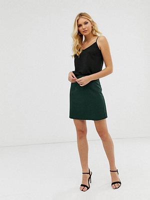 ASOS DESIGN Grön a-linjeformad minikjol