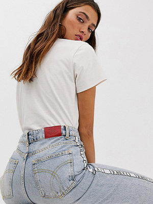 Fiorucci Tara classic Avsmalnande jeans med Fiorucci-logga Light vintage