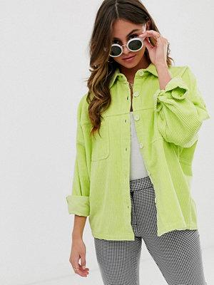 ASOS DESIGN Skjortjacka av manchester i neon